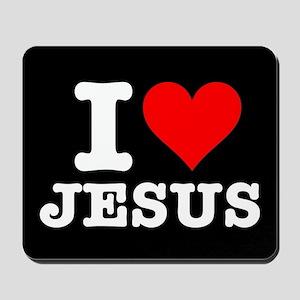 I Heart Jesus Mousepad