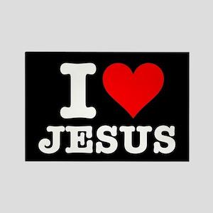 I Heart Jesus Rectangle Magnet