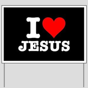 I Heart Jesus Yard Sign