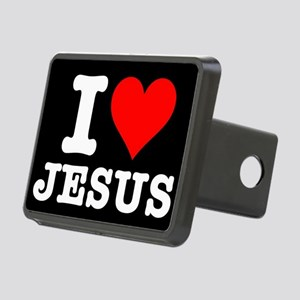 I Heart Jesus Rectangular Hitch Cover