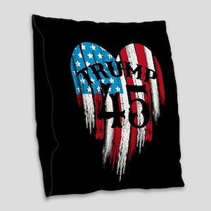 Trump America Burlap Throw Pillow