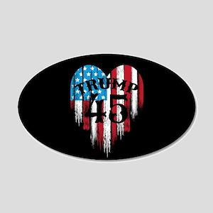 Trump America 20x12 Oval Wall Decal