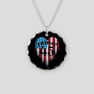Trump America Necklace Circle Charm