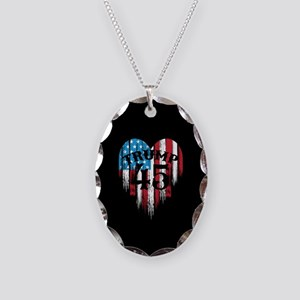 Trump America Necklace Oval Charm