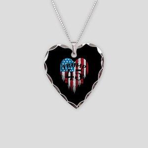Trump America Necklace Heart Charm