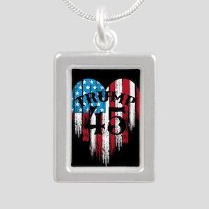 Trump America Silver Portrait Necklace