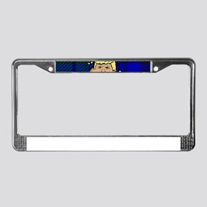 trump plaid poop License Plate Frame