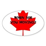 When are you moving? Sticker