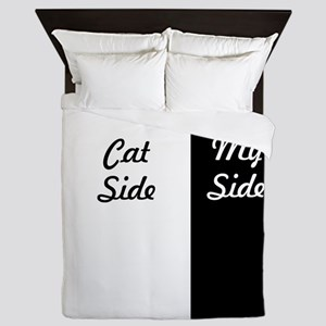 My Side Cat Side Queen Duvet