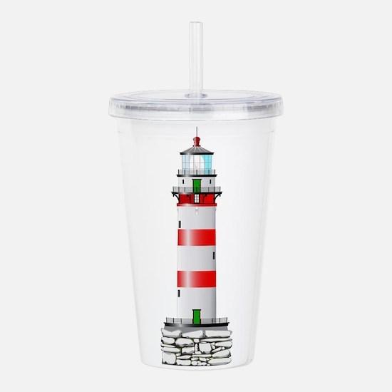 Isolated Lighthouse Acrylic Double-wall Tumbler