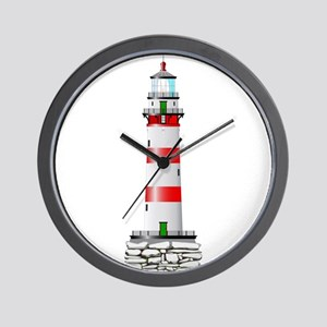 Isolated Lighthouse Wall Clock