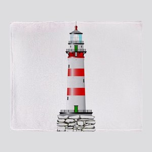 Isolated Lighthouse Throw Blanket
