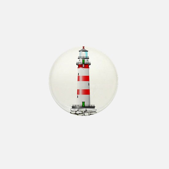 Isolated Lighthouse Mini Button