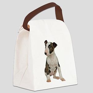 Bull Terrier Photo Canvas Lunch Bag