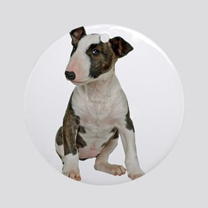 Bull Terrier Photo Round Ornament