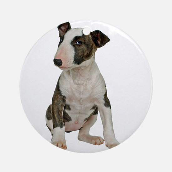 Bull Terrier Photo Round Ornament