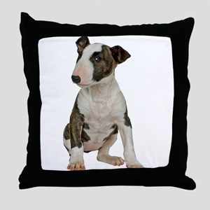 Bull Terrier Photo Throw Pillow