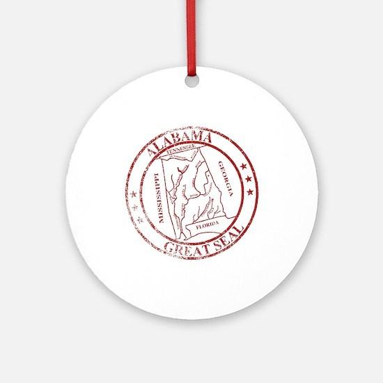 Alabama State Seal Stamp Round Ornament