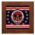 Donald Trump Sr. Inauguration 2017 Framed Tile