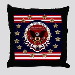 Donald Trump Sr. Inauguration 2017 Throw Pillow