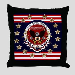 Donald Trump Sr. Inauguration 2017 Throw Pillow