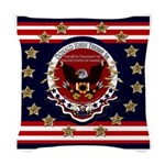 Donald Trump Sr. Inauguration Woven Throw Pillow