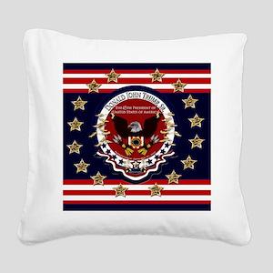 Donald Trump Sr. Inauguration Square Canvas Pillow