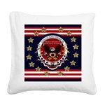 Donald Trump Sr. Inauguration Square Canvas Pillow