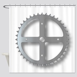 Bicycle Cog Shower Curtain