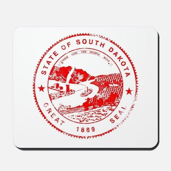 South Dakota Seal Rubber Stamp Mousepad