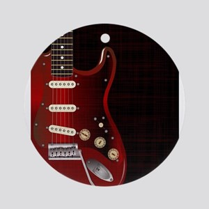 Dark Guitar Round Ornament