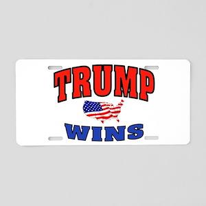 TRUMP WINS Aluminum License Plate