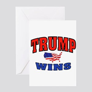 TRUMP WINS Greeting Cards