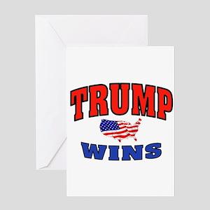 TRUMP WINS Greeting Cards