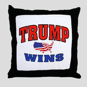 TRUMP WINS Throw Pillow
