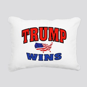 TRUMP WINS Rectangular Canvas Pillow