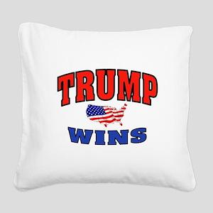 TRUMP WINS Square Canvas Pillow