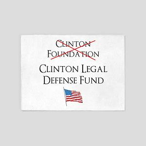 Clinton Legal Defense Fund 5'x7'Area Rug