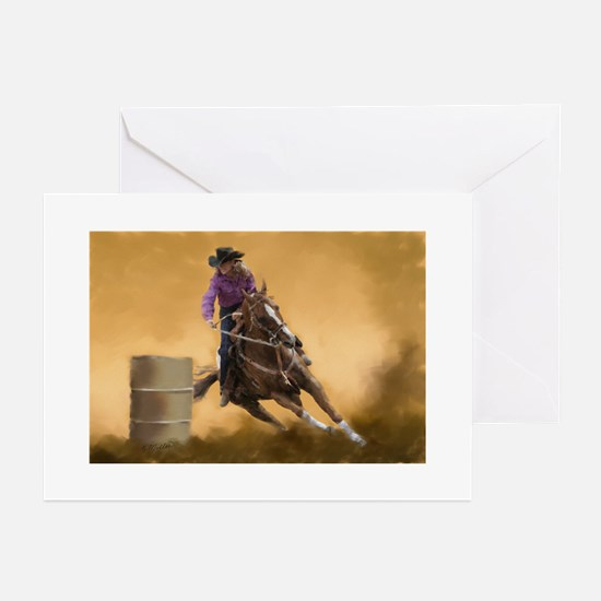 Barrel Racin Greeting Cards