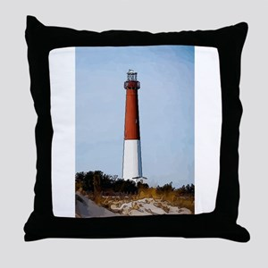 Old Barney Lighthouse Throw Pillow