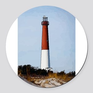 Old Barney Lighthouse Round Car Magnet