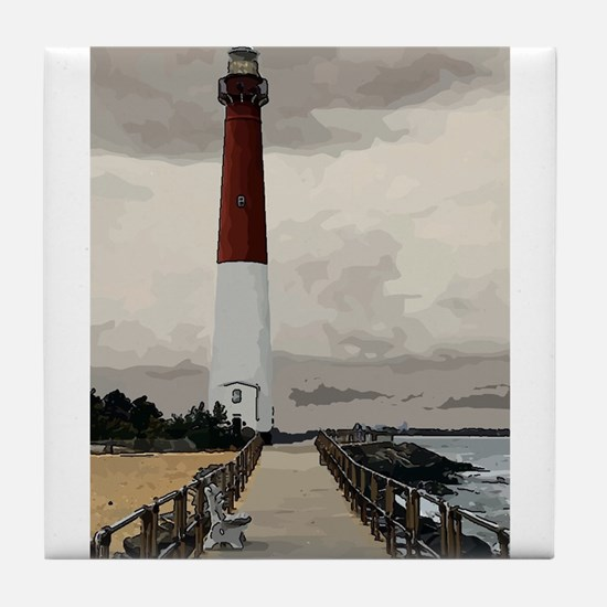 Barnegat Light Lighthouse NJ Tile Coaster
