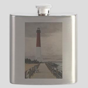 Barnegat Light Lighthouse NJ Flask