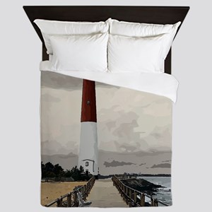 Barnegat Light Lighthouse NJ Queen Duvet