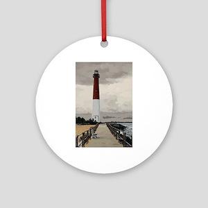Barnegat Light Lighthouse NJ Round Ornament
