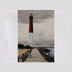 Barnegat Light Lighthouse NJ Throw Blanket