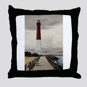 Barnegat Light Lighthouse NJ Throw Pillow
