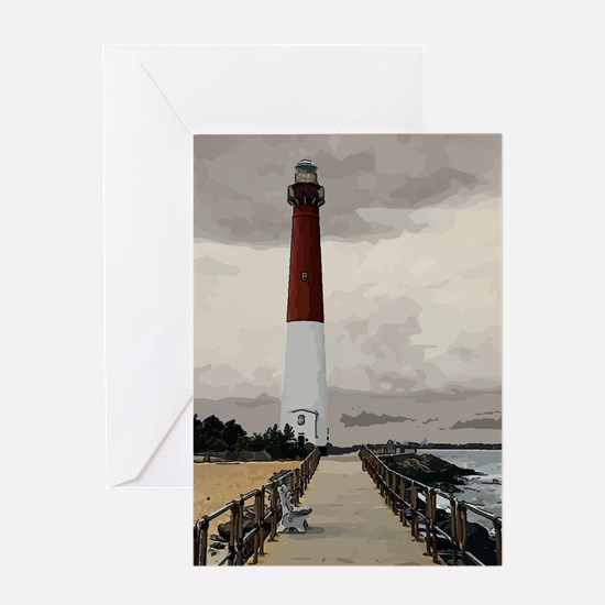 Barnegat Light Lighthouse NJ Greeting Cards