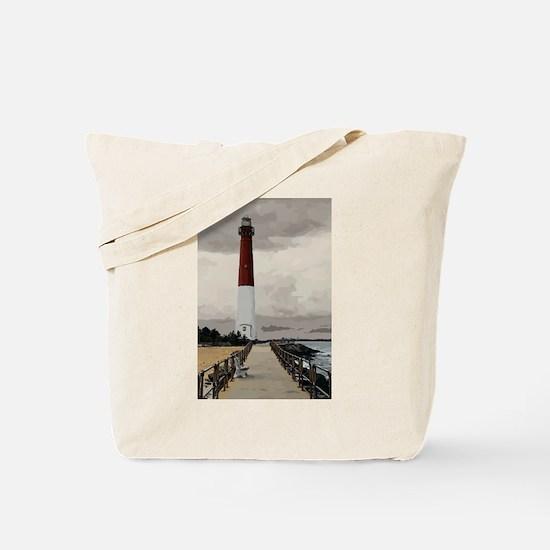 Barnegat Light Lighthouse NJ Tote Bag
