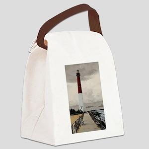 Barnegat Light Lighthouse NJ Canvas Lunch Bag